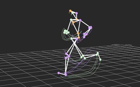 Runner's 3D skeleton